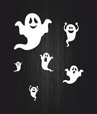 Set 6x sticker decal car bike bumper halloween spooky macbook ghost white funny