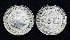 1/10 Gulden 1963 Nederlandse Antillen/ Antilles Néerlandaises. Argent/ Silver