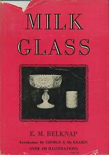 Antique Milk Custard Caramel Slag Glass - Makers Patterns Dates / Scarce Book