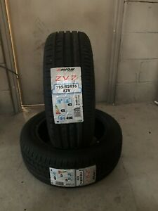 2 NEW 1955516 195 55 16 AVON ZV7 87V TWO TYRES A WET GRIP