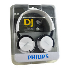 Genuine Philips Stereo Wired High Bass DJ Style 32mm Drive On-Ear Over Headphone