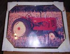 """22""""x181/2"""" framed massey-harris 30 tractor picture in nice shape used"""