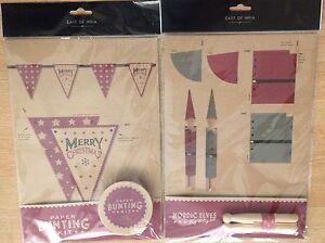 East of India MYO Christmas decoration kits paper bunting Nordic Elves pegs Xmas