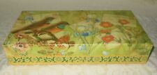 Punch Studio Decorative Gold Foil Larks Meadow Keepsake Memory Gift Box NEW