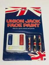 Union Jack face paint kit red blue white Ideal for sports events and parties