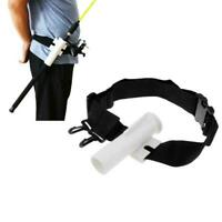 Adjustable Waist Fishing Rod Holder Fishing Belt Rod Tube Holster W2I8