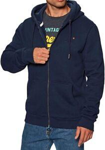 Superdry Men Navy Full Zip Hoody Size L H5