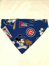 Over Collar SlideOn Pet Dog Cat Bandana  CHICAGO CUBS MICKEY MOUSE   LARGE