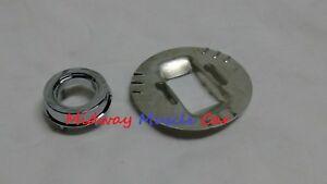 rear 1/4 mount chrome antenna base adapter & plate 67-69 Chevy Camaro Firebird