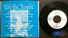 "CONSTITUTION SONG Preamble set to music (7"" 45rpm record) + GETTYSBURG ADDRESS"