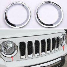 HL ABS Chrome Front Headlight Lamp Cover Molding Trim For Jeep Patriot 2011-2016