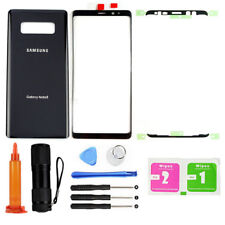 Black OEM For Samsung Galaxy Note 8 N950 Front Screen Glass Back Replacement Kit