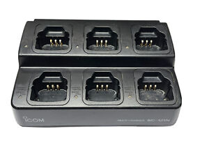 Icom BC-121N 6 Way Desktop Rapid Charger With 6 x AD-106 Adaptor
