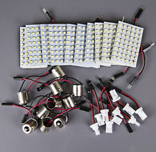 10x Xenon White 48-SMD LED Panel Interior Dome Map Light +1156 BA15S+T10 Adapter