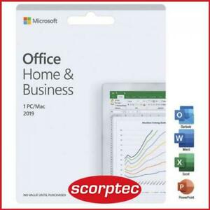 Microsoft Office Home and Business 2019 Medialess Retail