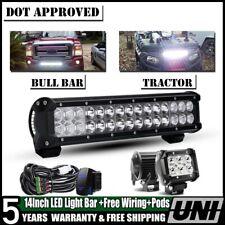 14 inch led light bar+2x fog lights driving utv atv cfmoto zforce 800cc 2015