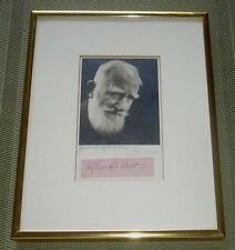 Original GEORGE BERNARD SHAW Autograph + Signed Photograph by GERMAINE KAHN 1940