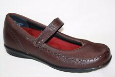 AETREX BERRIES BE31W BROWN WEDGE HEEL MARY JANES LOAFERS FLATS WOMENS SZ 8 M
