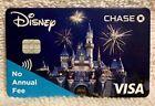 Chase Visa Disney World Cinderella's Castle Promotional Credit Card Cardstock