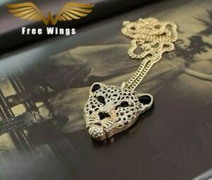 Vintage Tiger Leopard Jewelled Necklace