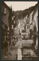 Devon. Clovelly. High Street & New Inn. Vintage Glossy Real Photo Postcard