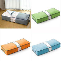 JN_ Zipped Clothes Duvet Clothing Pillow Under Bed Storage Organizer Bag Eager