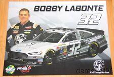 2015 Bobby Labonte C&J Energy Services Ford Fusion NASCAR Sprint Cup postcard