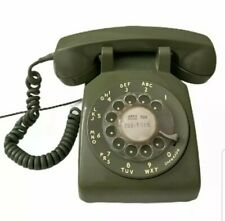 VTG 1970 Western Bell Electric Rotary Dial Desk Phone 500DM Avocado Green