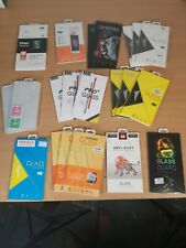 Job Lot 21 Mobile Phone mixed Tempered Glass, Privacy Screen Protectors