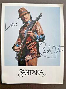 "Carlos Santana signed 8.5"" x 11"" color photo autograph Gypsy Queen AUTHENTIC"