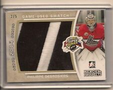 PHILIPPE DESROSIERS 2014-15 ITG HEROES & PROSPECTS GAME USED JERSEY PATCH /5