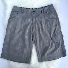 Lululemon Men's 38 Light Gray Plaid Cargo Shorts