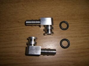 Winkelstücke Anschlusswinkel Benzinpumpe Fuel Pump Lancia Delta Integrale silber