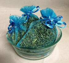 Set of 4 Lavender Sachets made with Turquoise Organza Bags