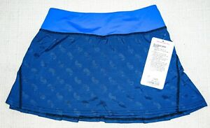 Lululemon Women's 2 Run Pace Setter Skirt Skort Blue  NWT