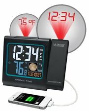 La Crosse Technology 616-146A Color LCD Projection 5-Inch Alarm Clock with Moon