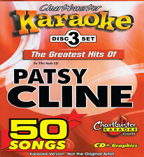 New listing Chartbuster 3 Disc Set 5104 Karaoke Cdg Patsy Cline Great Hits with song List