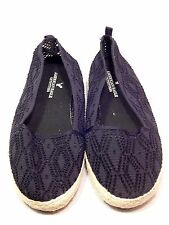 American Eagle Outfitters Black Cut Out Crocheted Style Ballet Flats Shoes 9