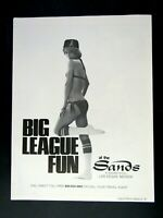 L.A. Angels The Sands Las Vegas BIG LEAGUE FUN 1977 Original Print Ad 8.5 x 11""
