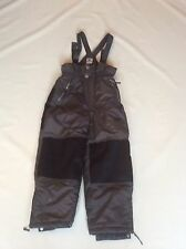 "Boys Rodeo Brown Snow Boarding Salopettes Sz 128cm Waist 24"" Vgc #17"