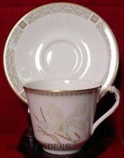 "ROYAL DOULTON china WHITE NILE TC1122 pattern Cup & Saucer Set - 2-7/8"""