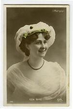c 1908 Vintage French Theater Beauty EZA BIRE Marigny photo postcard
