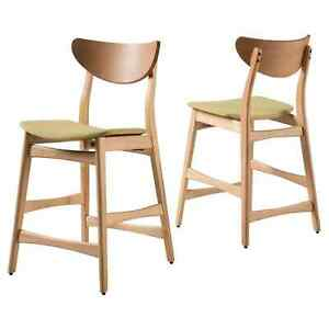 Set of 2 Gavin Counter Height Barstool Christopher Knight Home Green Tea 24 inch