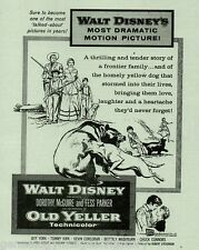 """Rare """"Old Yeller"""" Motion Picture Ad - Seldom Found+Connors, Corcoran, Gipson"""