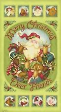 """Jingle All The Way Christmas Panel Cotton Quilting Fabric - 23.5"""" x 44"""""""