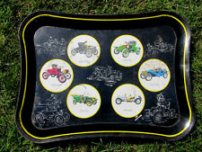 Vintage Masonware Drink Serving Tray with antique cars Runabouts, Roadster,