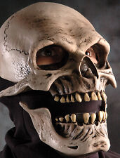 Death Reaper Skull Mask Moving Aciton Mouth Adult Halloween Latex Skeleton Mask