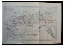 1928 Freshfield - DIVISION OF THE ALPS - WITH COLOUR MAP - 1
