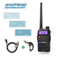 Baofeng UV-5RTP V/UHF 2m/70cm Dual Band HP *1/4/8W* Ham Two-Way Radio + Cable