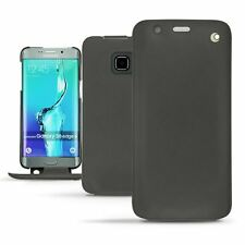 Noreve Leather Flip Case for Samsung Galaxy S6 Edge Plus - Black